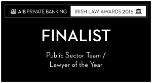 Irish Law Awards Public Sector Finalist